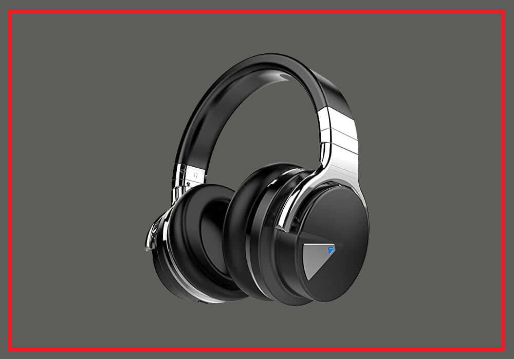 COWIN E7 Active Noise Cancelling Headphones Bluetooth Headphones with Microphone Deep Bass Wireless Headphones Over Ear, Comfortable Protein Earpads, 30 Hours Playtime for TravelWork, Black