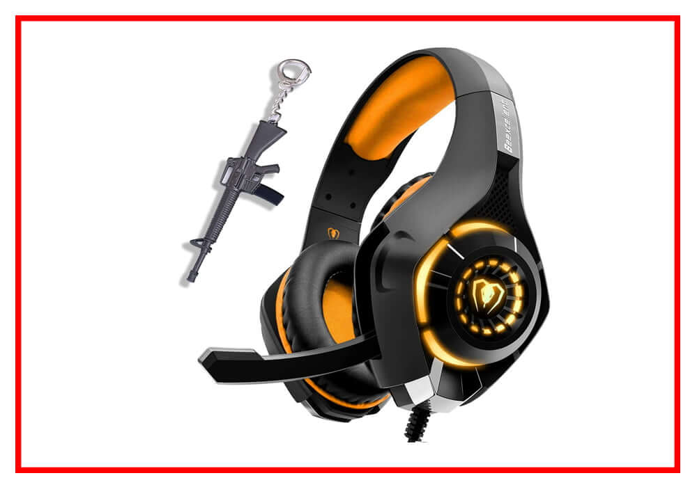 Orange Gaming Headset for New Xbox One PS4 PC Laptop Tablet with Mic