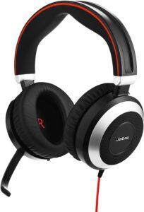 Jabra Evolve 80 UC Wired Headset Professional Telephone Headphones
