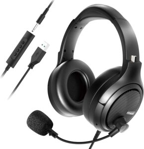Computer Headset with Microphone Noise Cancelling