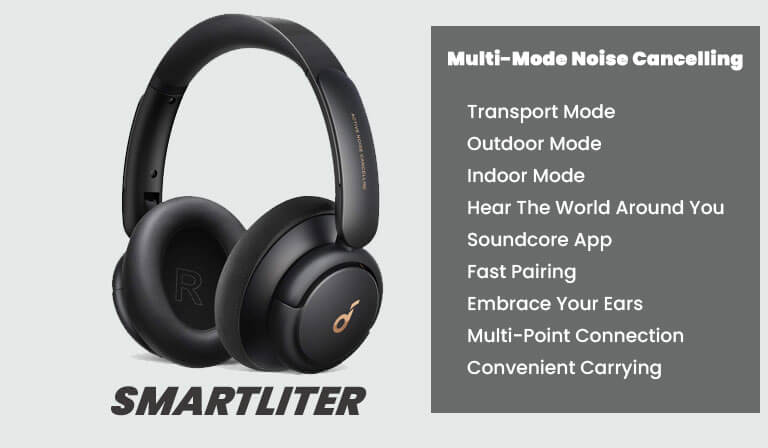 Anker Life Q30 Hybrid ANC Headphones with Multiple Modes