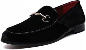 Men's Luxury Velvet Penny Loafer Shoes